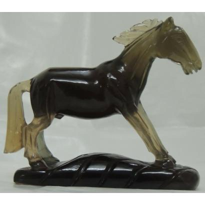 Hand Carved Gemstone Horse Statue